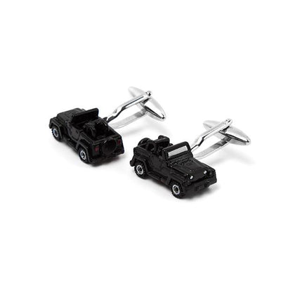 Novelty Cufflinks - Black Off Road Jeep Inspired - Cuffz