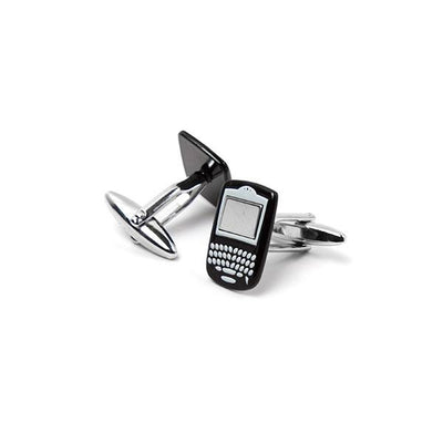 Novelty Cufflinks - Black smartphone with keypad - Cuffz
