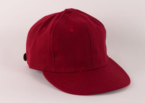 Ebbets Field Flannels 1940's Ball Cap | College Red Wool