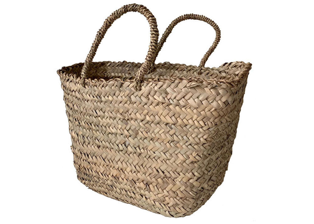 Shopkeeper Moroccan Palm Leaf Basket