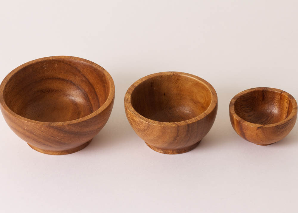 Fog Linen Work Acacia Wood | Pinch Bowl