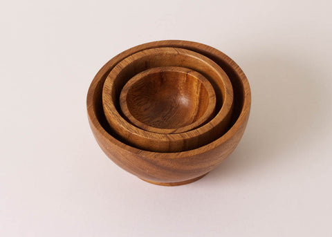 Fog Linen Work Acacia Wood Bowl - Small