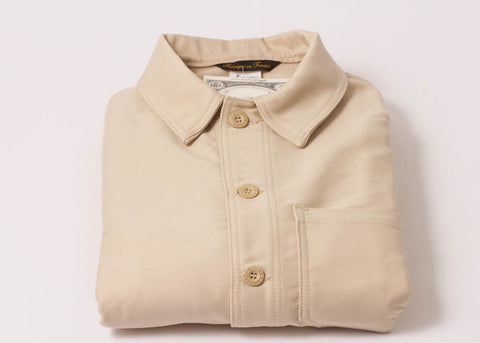 Le Laboureur Moleskin Work Jacket | Ecru