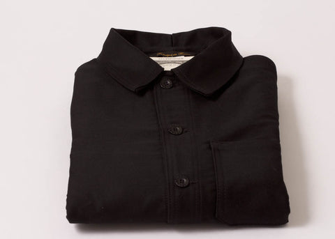 Le Laboureur Moleskin Work Jacket | Black