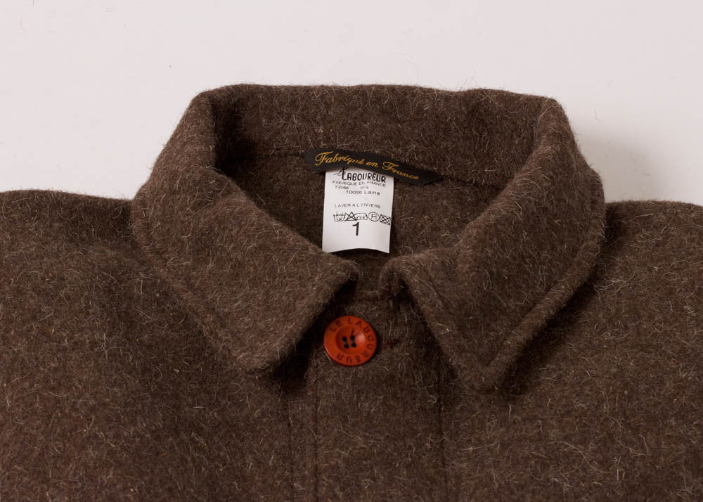 Le Laboureur Burel Wool Work Jacket | Marron