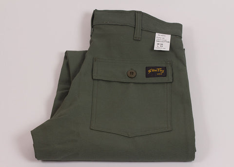 Stan Ray 4 Pocket Fatigue Regular Fit | Olive Sateen