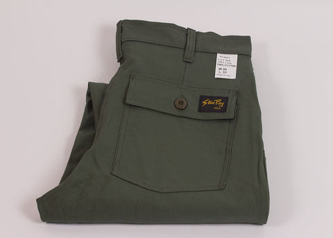 Stan Ray 4 Pocket Fatigue Tapered Fit | Olive Sateen