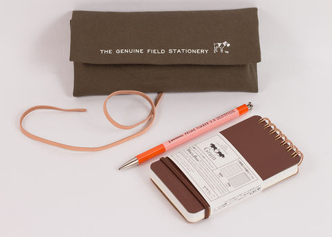 Hightide Penco Field Roll Pen Case | Khaki