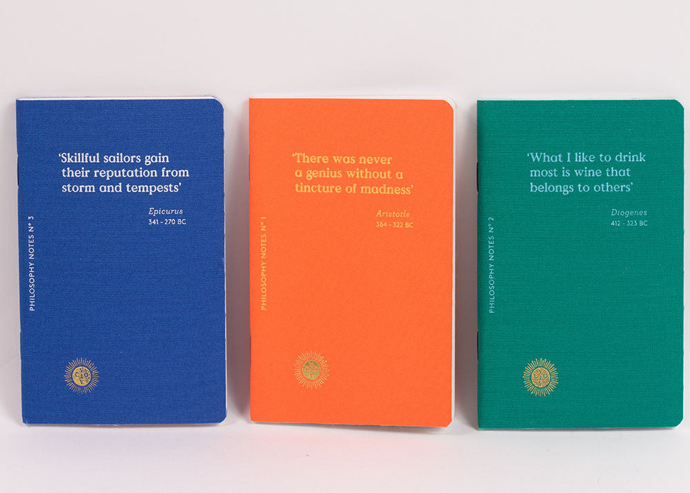 Octeavo 'Philosophy Notes' Notebook | Set Of 3