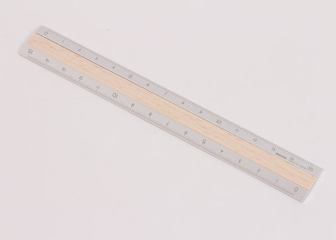 Midori Aluminium Wood Ruler | Light Wood