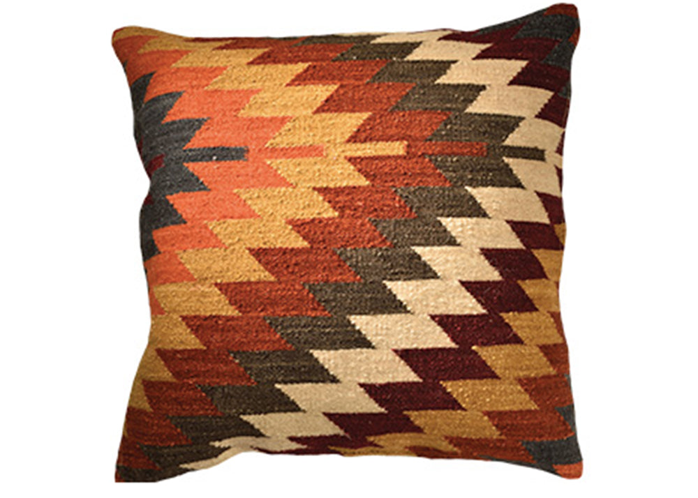 Good Weave Alwar Handloom Kilim Cushion | 60 x 60cm