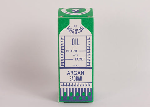 Le Baigneur Beard & Face Oil | Argan & Baobab
