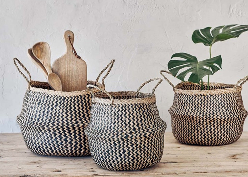 Nkuku Ekuri Basket | Black & Natural