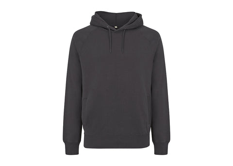 Earth Positive Organic Cotton Hooded Sweatshirt | Ash Black