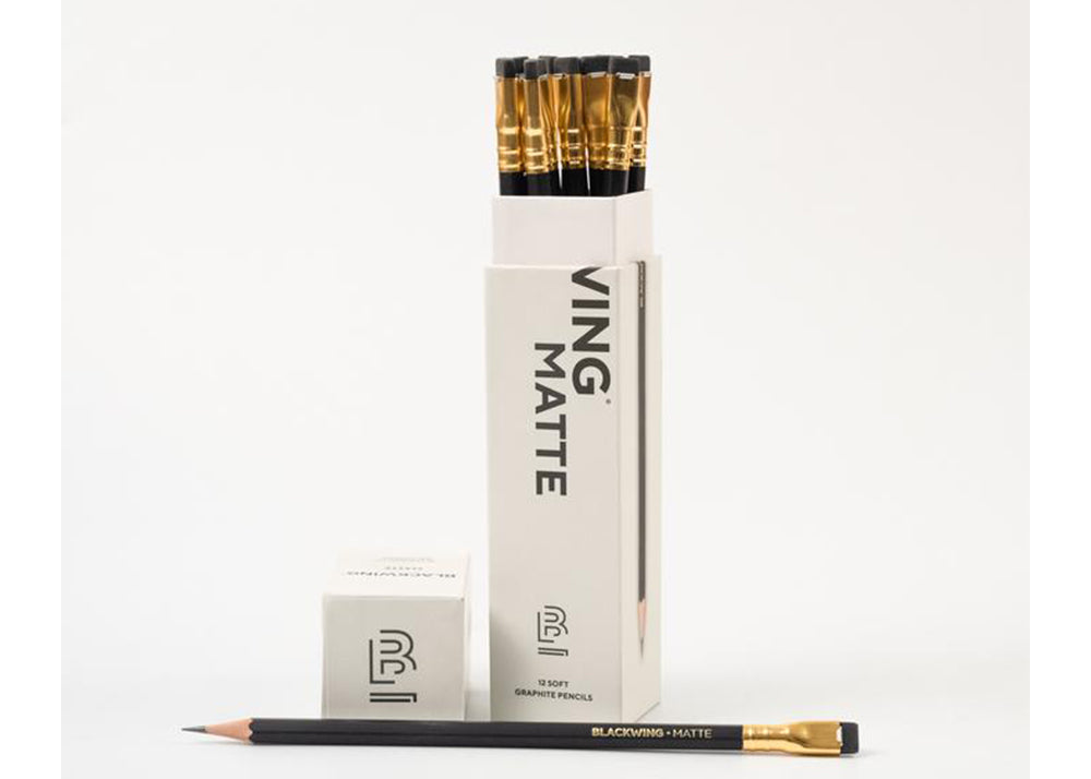 Blackwing 12 x 602 Soft Graphite Pencils  | Matte Black