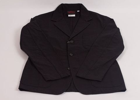 Vetra Washed Cotton Twill Blazer | Black