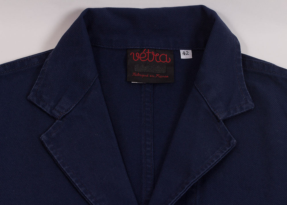 Vetra Washed Cotton Twill Blazer | Navy