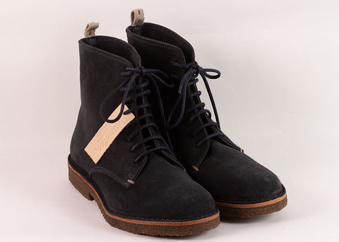 Astorflex Bootflex Derby Boot | Navy Suede