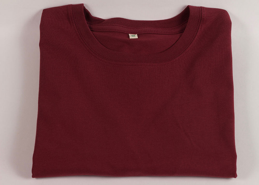 Earth Positive Organic Cotton Crewneck T-Shirt | Madder Red