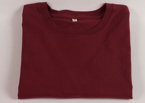 Shopkeeper Organic Cotton Crewneck T-Shirt | Madder Red
