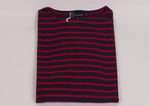 Armor-Lux Breton Stripe Shirt - Navy | Red