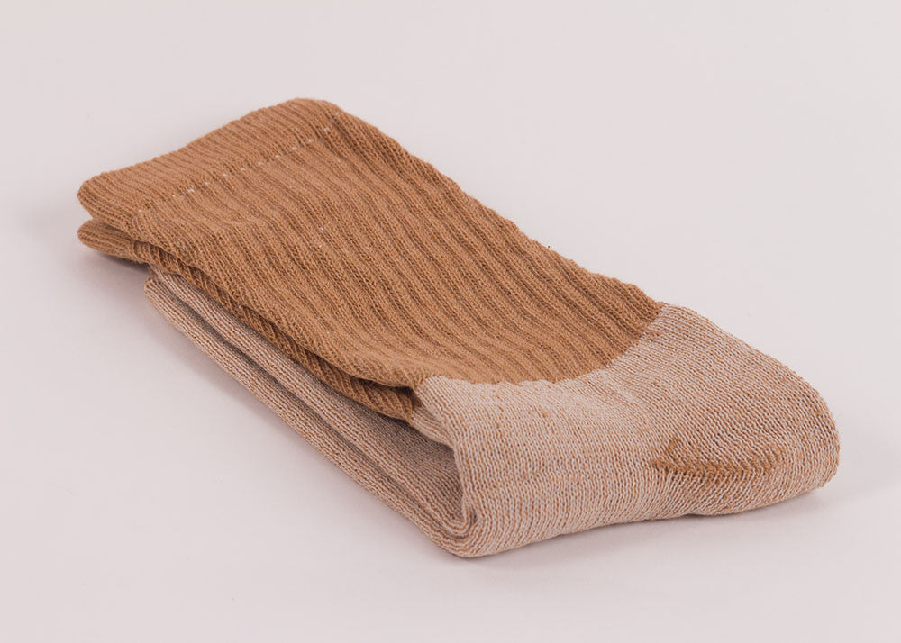 Organic Threads Crew Socks 3 Pack | Natural Brown