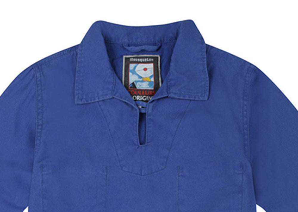 Mousqueton Kid's Cachou Cotton Smock | Gitane Blue