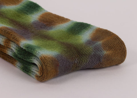 made by hippies Tie Dye Crew Socks | Plant Green