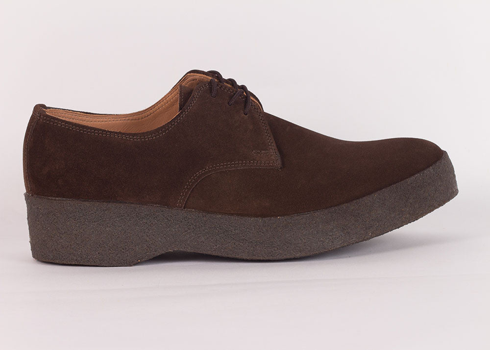 Sanders Suede Gibson Shoe - Dark Brown