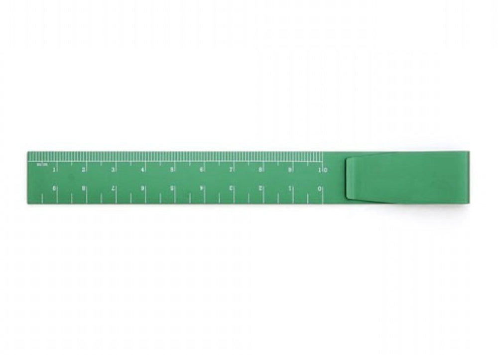 Hightide Aluminium Clip Ruler | Green