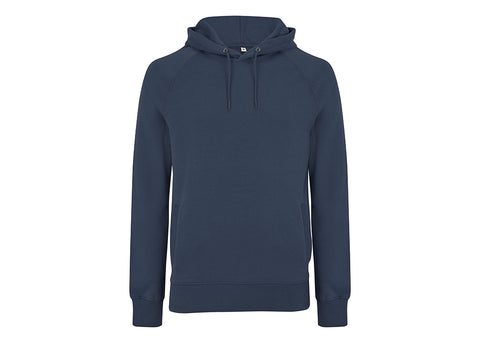 Earth Positive Organic Cotton Hooded Sweatshirt | Denim Blue