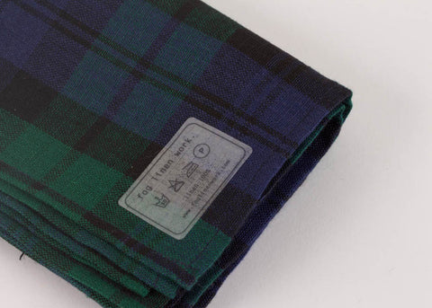 Fog Linen Work Linen Kitchen Cloth - Blackwatch Check