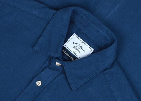 Portuguese Flannel Teca Shirt | French Blue