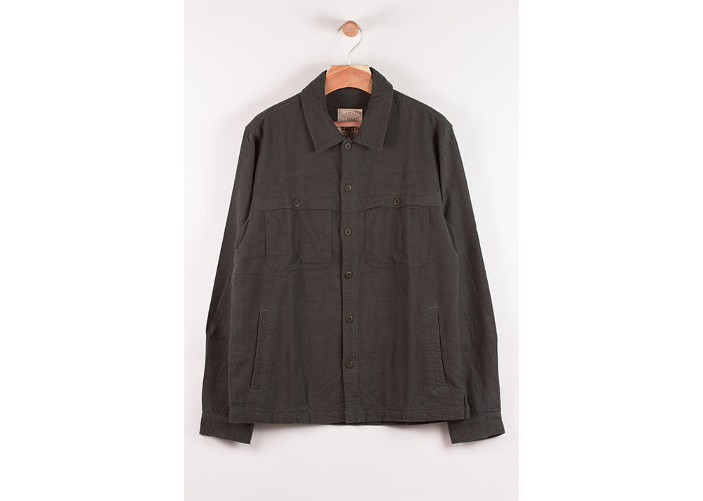Satta Yoke Overshirt | Alpine Green