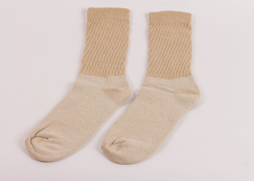 Organic Threads Crew Socks 3 Pack | Natural Green