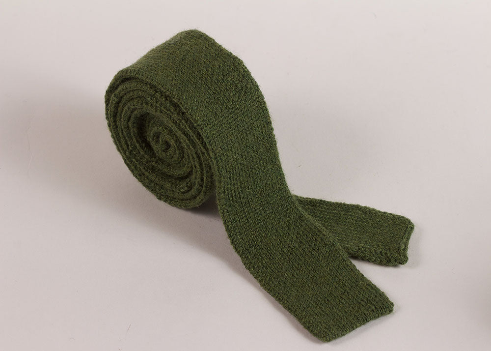 Shopkeeper Studio Wool Knit 'Artist' Tie | Leaf Green