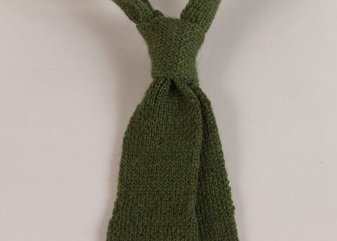 Shopkeeper Wool Knit 'Artist' Tie | Leaf Green