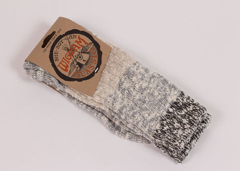 Wigwam Tri-colour Ragg Sock - Grey