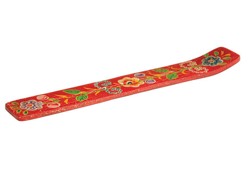 Namaste Hand Painted Incense Holder | Red