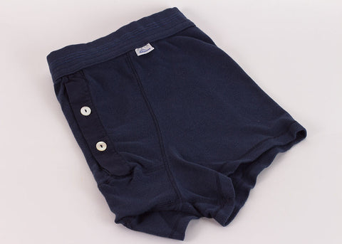 Schiesser Original Button Front Boxer Brief - Indigo