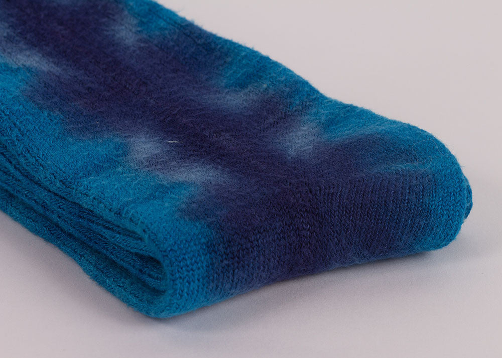 made by hippies Tie Dye Crew Socks | Indigo Blue