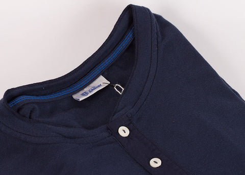 Schiesser Original 1/2 Button Long Sleeve - Indigo