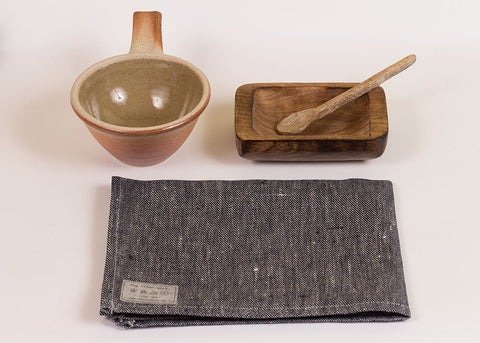 Fog Linen Work Linen Kitchen Cloth - denim