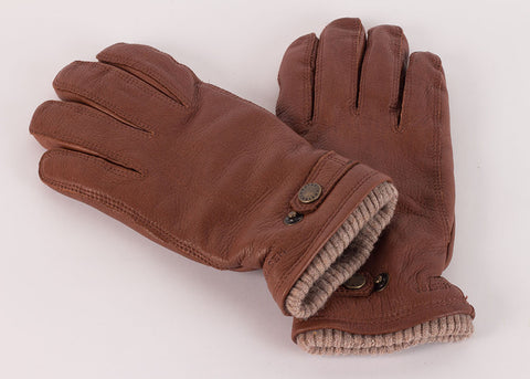 Hestra Utsjo Elk Leather Glove - Chestnut Brown
