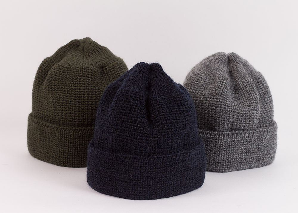 Leuchtfeuer Strickwaren Traditional Mariner Cap - Olive
