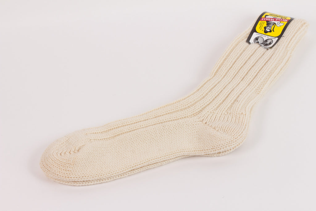Leuchtfeuer Strickwaren Wool Boot Socks - Natural
