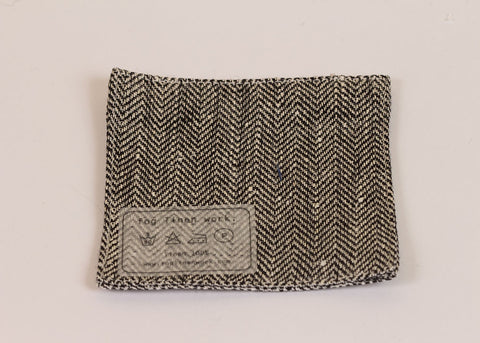 Fog Linen Work Linen drinks coaster | herringbone