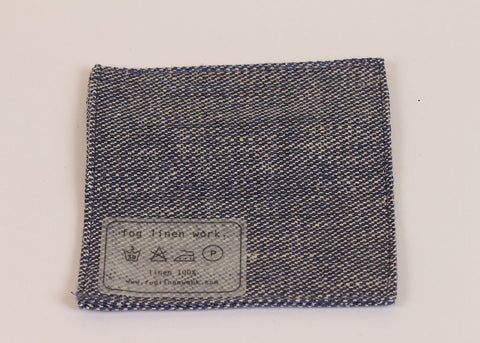 Fog Linen Work Linen drinks coaster | chambray