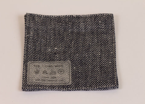 Fog Linen Work Linen drinks coaster - linen denim