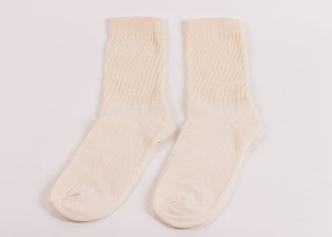 Organic Threads Crew Socks 3 Pack | Natural